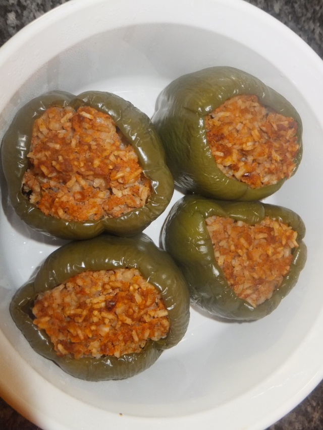 Stuffed Peppers Cooked