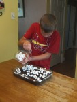 Jack putting on marshmallows