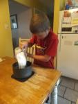 Jack making frosting