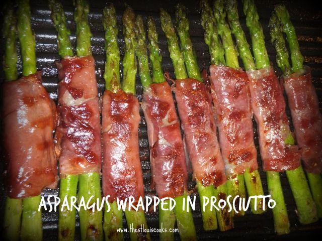 Asparagus wrapped Prosciutto
